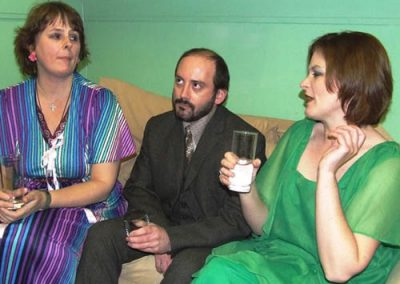 Angela (Katie Greathead), Laurence (Martin Noble) and Beverly (Wendy Tenbeth)