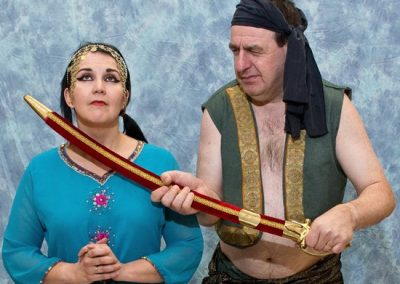 Shahrazad (Sasha Drennan) with the Executioner (Chris Matthews)