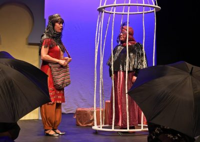 Parizad (Marea Reid) and the Talking Bird (Ruth Andrews) in The Envious Sisters