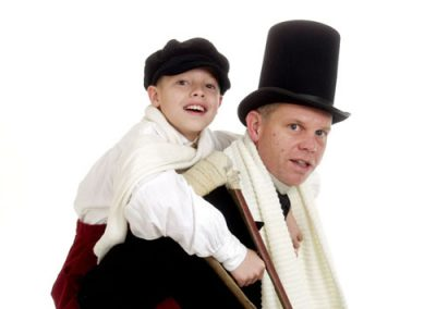 Jez and Alex Ashberry as Bob Crachit and Tiny Tim
