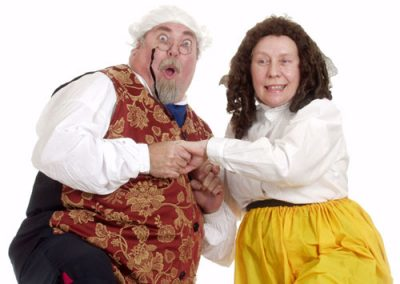 Ian Smith and Eileen Finningley as Mr and Mrs Fezziwig