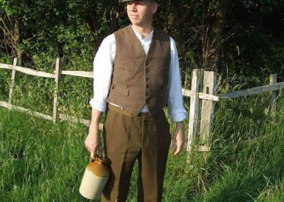 Loll (young Laurie Lee, played by Jez Ashberry) with cider