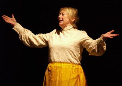 Mrs Pimbury sings a song about a mushroom at the annual parochial church tea