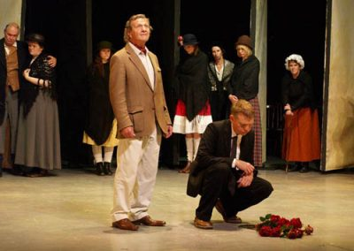 The play ends with the funeral of Loll's mother, poignantly remembered by narrator Laurie Lee