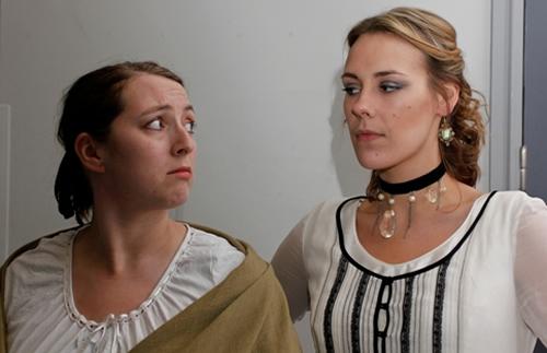 Biddy (Lisa Hewitt Smith) and Estella (Alex Thornton)