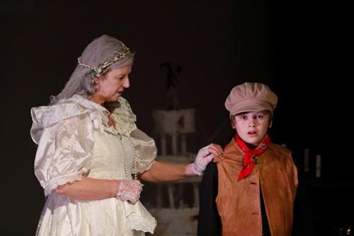 Miss Havisham (Janet Marshall) with Young Pip (Alfie Lewis)
