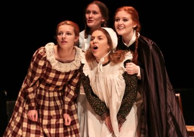 The March sisters: Meg (Jessica Hocking), Beth (Tabitha Davenhill), Amy (Laura Potente) and Jo (Ellie Pickering)