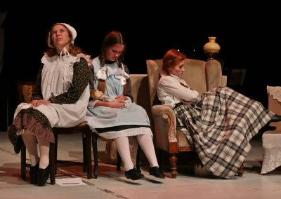 Amy (Laura Potente), Beth (Tabitha Havenhill) and Jo (Ellie Pickering)
