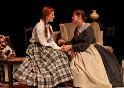 Jo (Ellie Pickering) talks to Marmie (Vicky Ashberry)