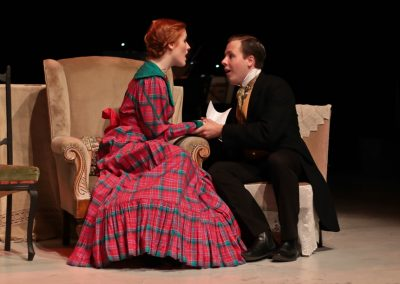 Jo (Ellie Pickering) and Laurie (Jay Petherick)