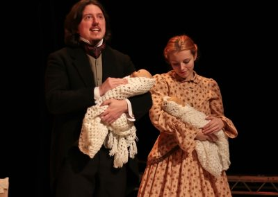 John Brooke (Steve Gillard) and Meg (Jessica Hocking) have a baby