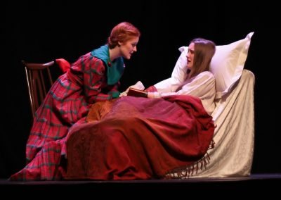Jo (Ellie Pickering) tends to Beth (Tabitha Davenhill)