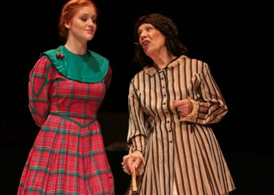 Jo (Ellie Pickering) gets a telling off from Aunt March (Irene North)
