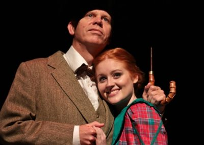 Jo (Ellie Pickering) and Professor Bhaer (Jez Ashberry) are together at last