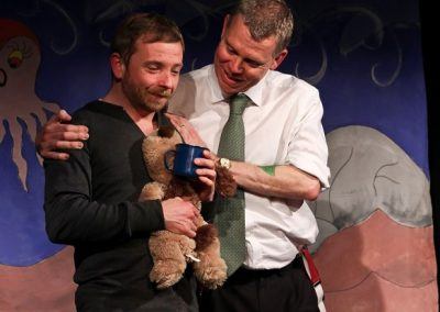 You stroke it and it provides emotional comfort - Thomas (Jez Ashberry) and Cooper (Philip Little)