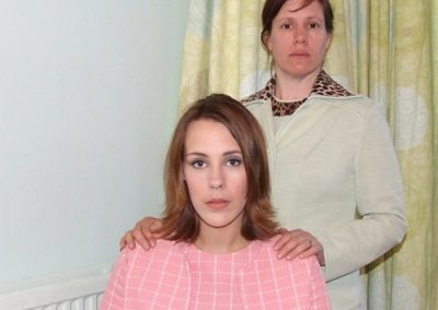 Mary (Alex Thornton) and Mrs Adams (Vicky Ashberry) never see eye to eye
