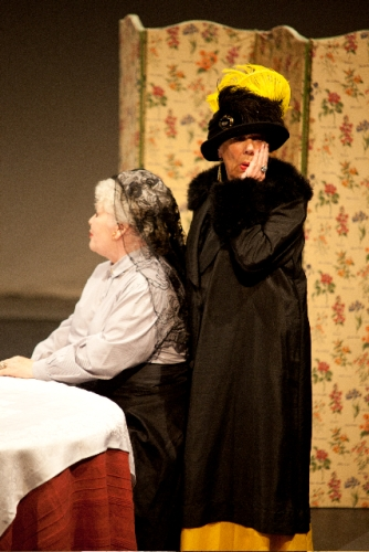 Mme Alvarez (Ruth Andrews) and Aunt Alicia (Irene North) have plans for their young charge