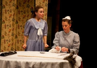 Gigi (Megan Brewer) with Sidonie the maid (Holly Eggboro)