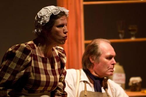 Mrs Joe (Vicky Ashberry) and Joe (Tony Smith) brought Pip up