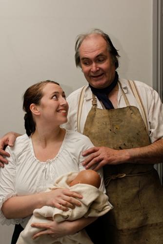 Biddy (Lisa Hewitt Smith) and Joe (Tony Smith) - no relation! - are eventually married