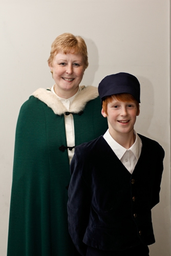 Honor Grantham with Young Herbert (Jacob Grantham)