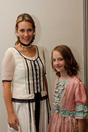 Older and younger Estella (Alex Thornton and Emma Street)