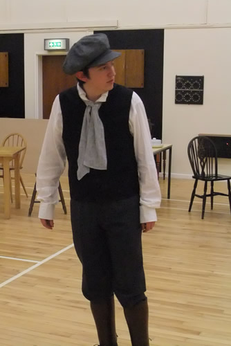 Steve Gillard as Pip in rehearsal