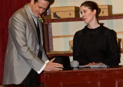 Alice (Jose Bruce) has her sights set on Albert Prosser (Simon Harvey)
