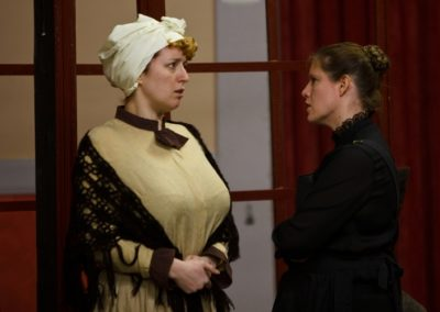 Ada (Lisa Hewitt Smith) tries to stand up to Maggie (Vicky Ashberry)