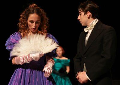 Sallie Gardiner (Lucie Evans) and Ned Moffat (Elliot Sargent)