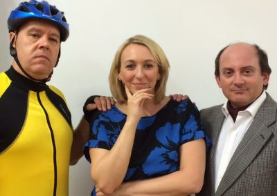 Lop Wink (John Kirsopp), Norma Green (Naomi Watkins) and Geoff Lazenby (Martin Noble)