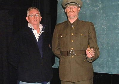 Director Steve Watters with CSM Rivers (Richard Wood)