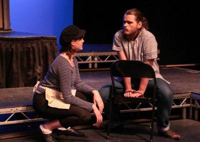 Benvolio and Mercutio (Emily Ashberry and Georgina Wilmer
