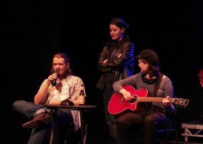 Romeo, Mercutio and Benvolio (Aiden Clark, Georgina Wilmer and Emily Ashberry)