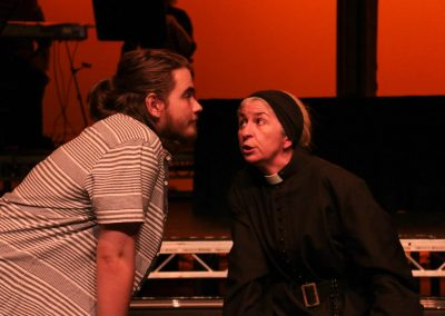 Romeo and Father Laurence (Aiden Clark and Pamela Marnie)