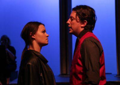 Mercutio and Tybalt (Georgina Wilmer and Stephen Gillard)