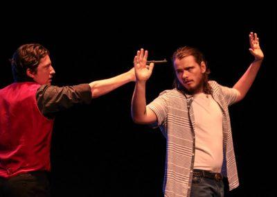 Tybalt and Romeo (Stephen Gillard and Aiden Clark)